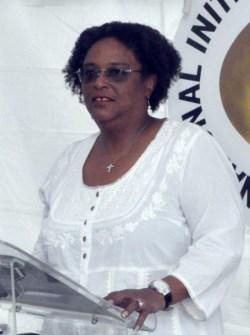 Opposition Leader Mia Mottley.