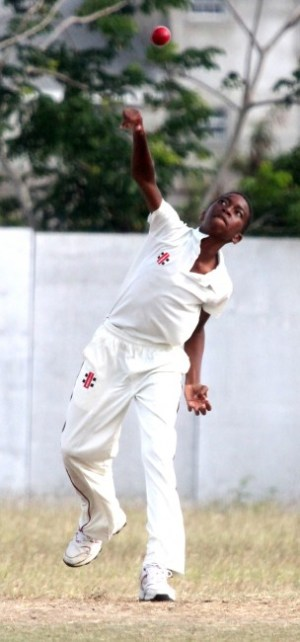 Coshon Scott grabbed two wickets with his off-breaks for St Leonard's.