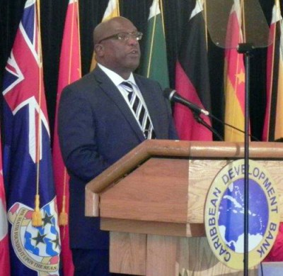 Chairman of the CDB board of governors, St Kitts and Nevis' Prime Minister Timothy Harris.