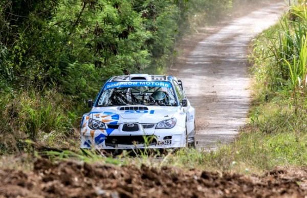 Roger Skeete in his Subaru Impreza WRC S12 (Photograph by Nicholas Bhajan).