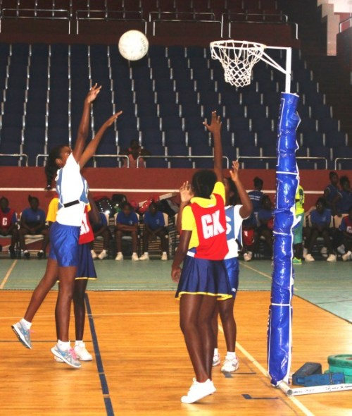 St Gabriel's (blue and white) played St Silas (yellow and blue) during the rally.