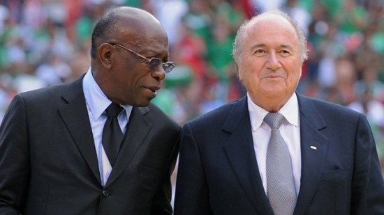 Austin 'Jack' Warner and Sepp Blatter in happier times.