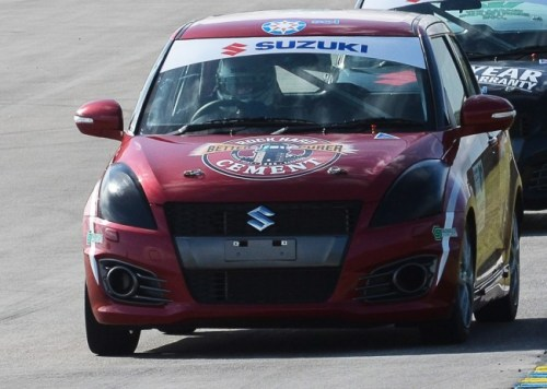 Barbados' Mark Thompson had a good showing despite some car issues.