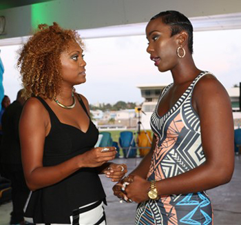 Lia Gajadhar (left) and Roberta Dowell (right) of the Volume Entertainment Group.