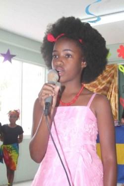 Kayla Alleyne, Upper Junior Prize winner singing If We Hold On Together.