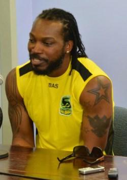 Jamaica Tallawahs' captain Chris Gayle