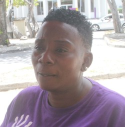 """Sherryann Baptiste said business for her was """"not bad""""."""
