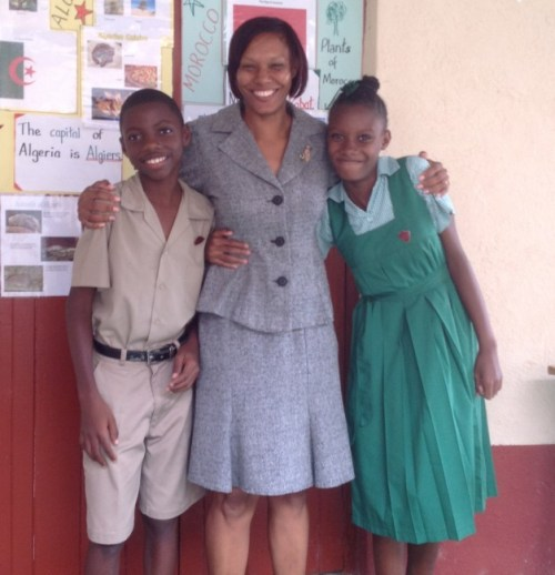 Class teacher Paula Toppin (centre) is very proud of her students.