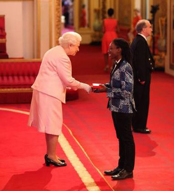 Barbadian Donnya Piggott was among  60 youth leaders chosen to meet the Queen.