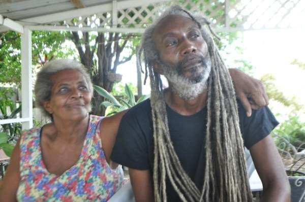 Mother Antalene Armstrong (left) is relieved that her son Noel (right) has made it back home alive.