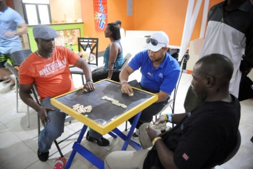 Dominoes was a highlight at the ManUp Expo.