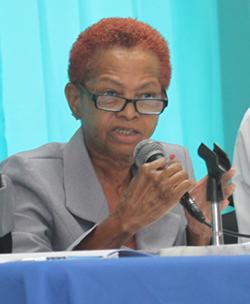 NUPW acting Deputy General Secretary Delcia Burke