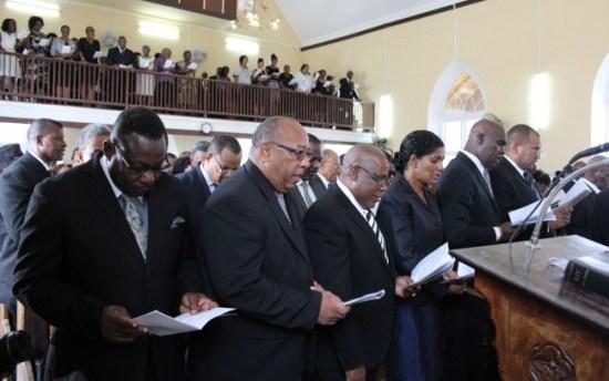 Cabinet members attending today's  funeral of Allison Harriet Stuart.