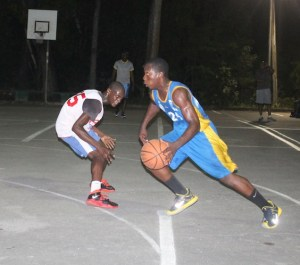 Andrew Ifill was in beast mood as he dribbled past and left Rachad Hall of Kingz in his wake.