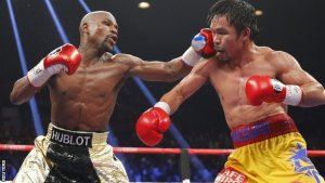 Floyd Mayweather's fight against Manny Pacquiao under a cloud.