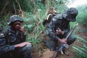 Guyana Defence Force soldiers seen here in a past Tradewinds exercise.