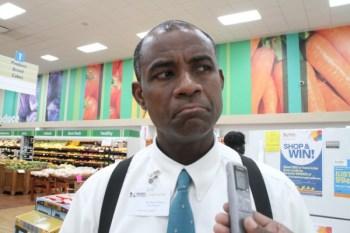 Floor manager of Massy Stores Supermarket SkyMall branch Shane Pilgrim.