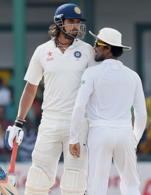 Ishant Sharma (left)  and Dinesh Chandimal were among those punished by the ICC.