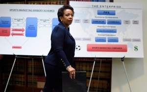 Loretta Lynch says more charges could be coming to FIFA officials.