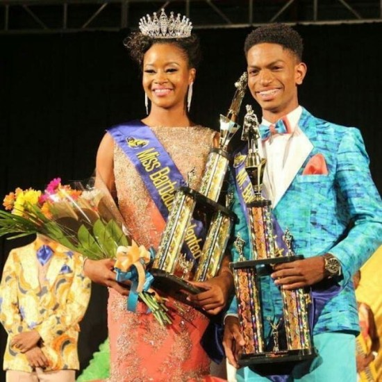 Queen Beviny Payne and king Jeremiah McCollin.