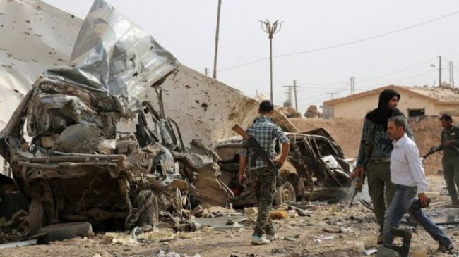 Kurdish militia fighters,  backed by Arab rebels,  have driven IS from large parts of northern Syria.