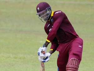 Carlos Brathwaite on the go during his blistering century.