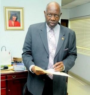 Minister of Health Dr Fenton Ferguson