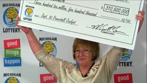 Julie Leach just won Michigan's Powerball jackpot of $310.5 million.