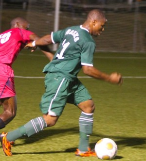Kemar Headley scored once again for St Michael West. (FP)