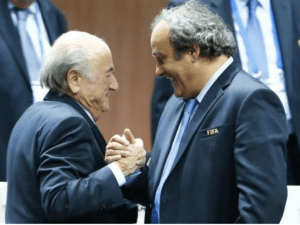 Michel Platini (right) and Sepp Blatter in happier times. (FP)
