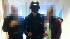 The suspect apparently posed for photos with pupils ahead of the attack