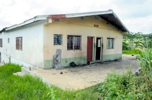 The two sisters were reportedly taken to a back room at this house where they were slaughtered.
