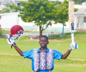 West Terrace captain Micaiah Simmons scored a fantastic 107 not out.