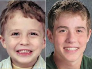 Julian Hernandez at age five when he was reported missing (left)  and an age progressed image showing what he would look like at age 16 (right).
