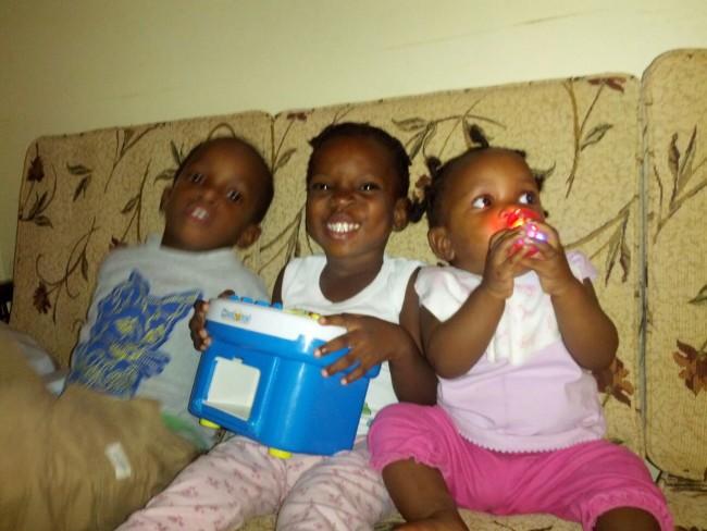 Shane Nurse's children, from left, Arkamani, Nzinga and Candace.