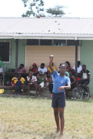 Danika Roachford won the under-13 girls cricket ball throw at Bay Primary's sports day. She also shared the victrix ludorum title.