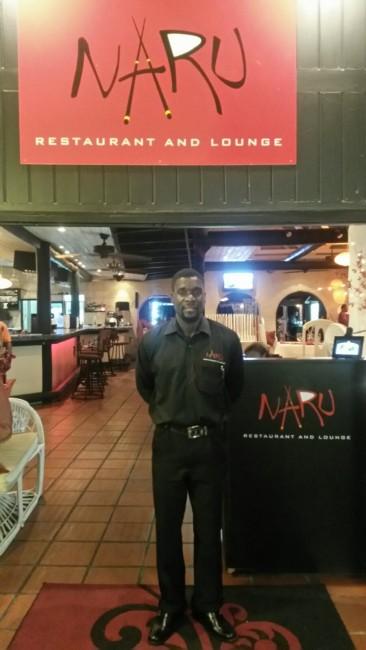 Naru Restaurant employee Kevin Payne.