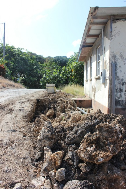 St Peter residents are frustrated with frequent dry taps and unfinished road repairs.