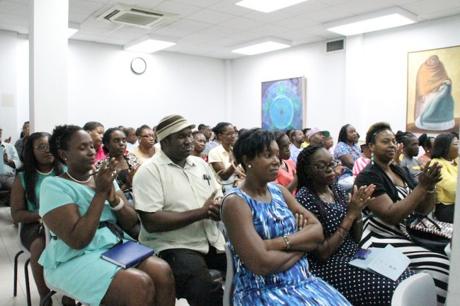 A large number of parents and guardians turned up at the meeting held at the Ministry of Education.