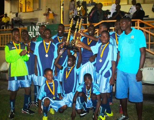 St George South are the champions of the first ever National Sports Council/Youth Development Under-17 Football Tournament.