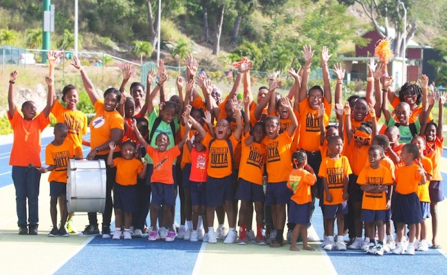Orange House celebrating their victory today.  (Pictures by Morissa Lindsay)