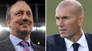 Rafael Benitez (left) and Zinedine Zidane