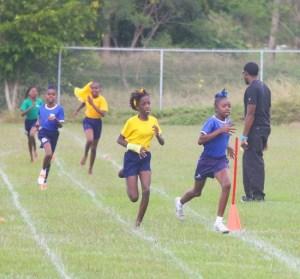 Rashida Barrow of Blue House won the girls' 600m open in convincing fashion.