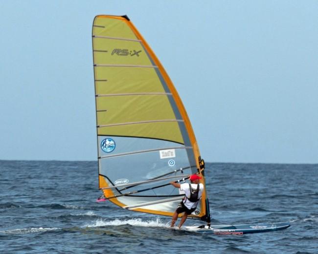 Trevor Hunte smashed the windsurfer record.
