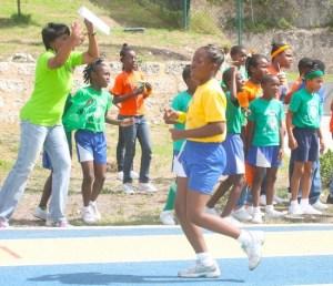 Victrix ludorum Makayla Lynch of Gold House easily won the under-13 girls 400m.