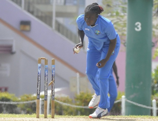Captain Stafanie Taylor during a recent practice match in Barbados. (Picture by Philip Spooner)