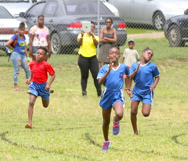 Imani Firebrace was victorious in the 200m and also topped the under-11 girls division for Yellow House.