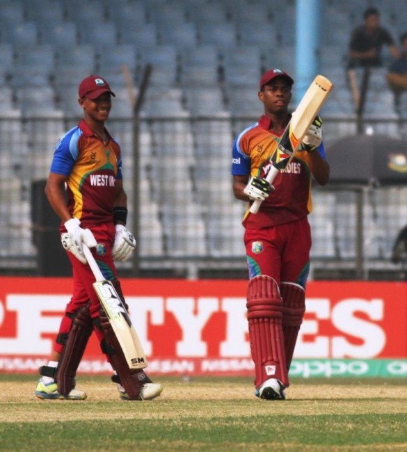 Shimron Hetmyer (r) and Tevin Imlach laid the foundation for West Indies' win.