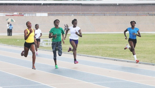 Tiana Bowen of Skeete House was in a class of her own as she won all her races including this 200m.