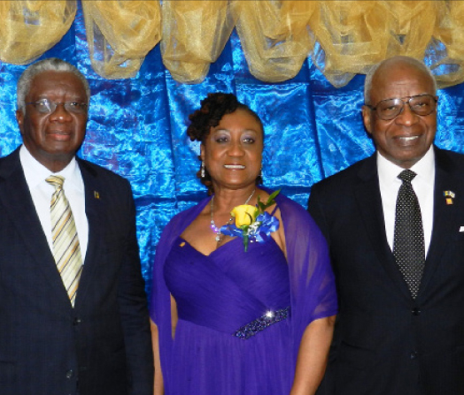 From left,  Prime Minister Freundel Stuart, Consul General to New York Donna Hunte-Cox and Ambassador to the United Nations Tony Marshall.